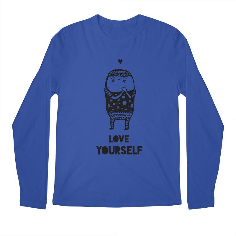 Love Yourself Men's Regular Longsleeve T-Shirt by Piratart Illustration
