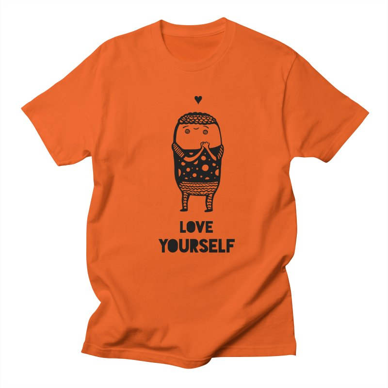 Love Yourself Men's T-Shirt by Piratart Illustration