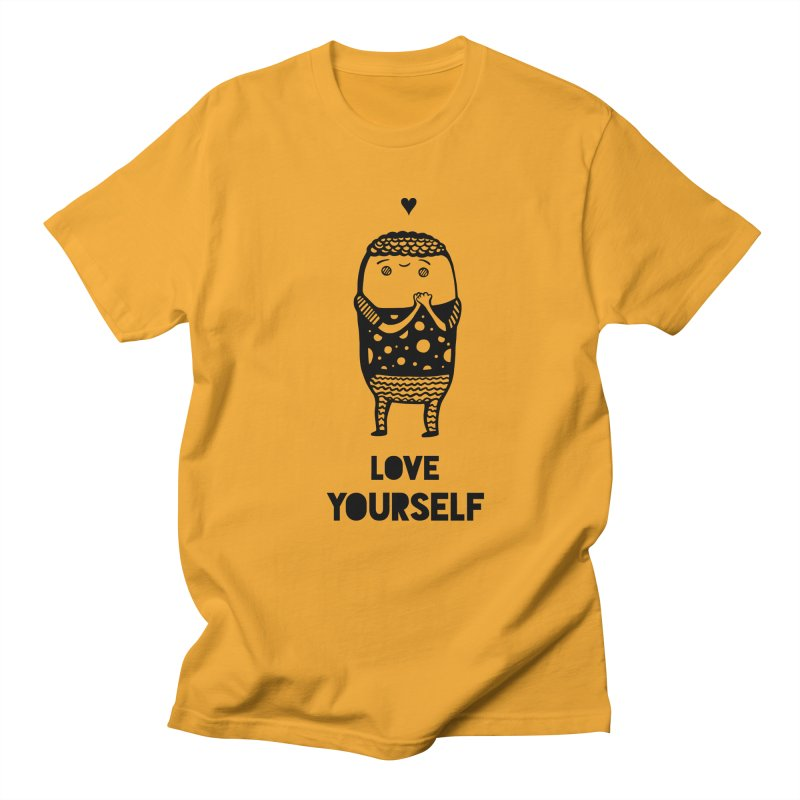 Love Yourself Men's Regular T-Shirt by Piratart Illustration