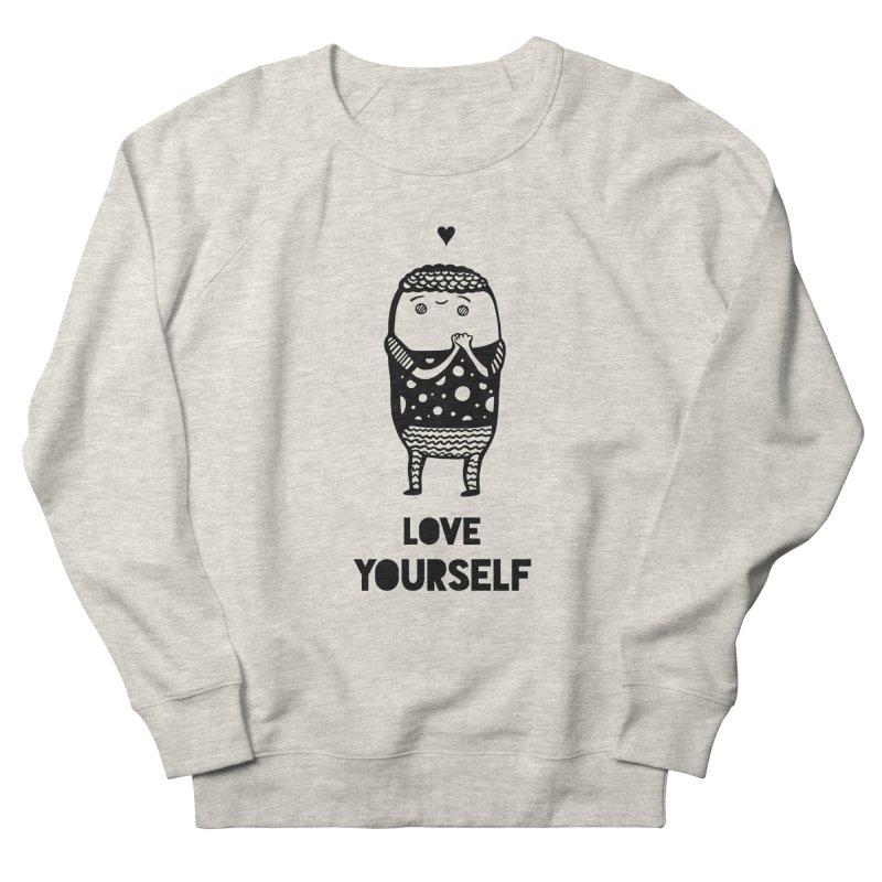 Love Yourself Men's French Terry Sweatshirt by Piratart Illustration