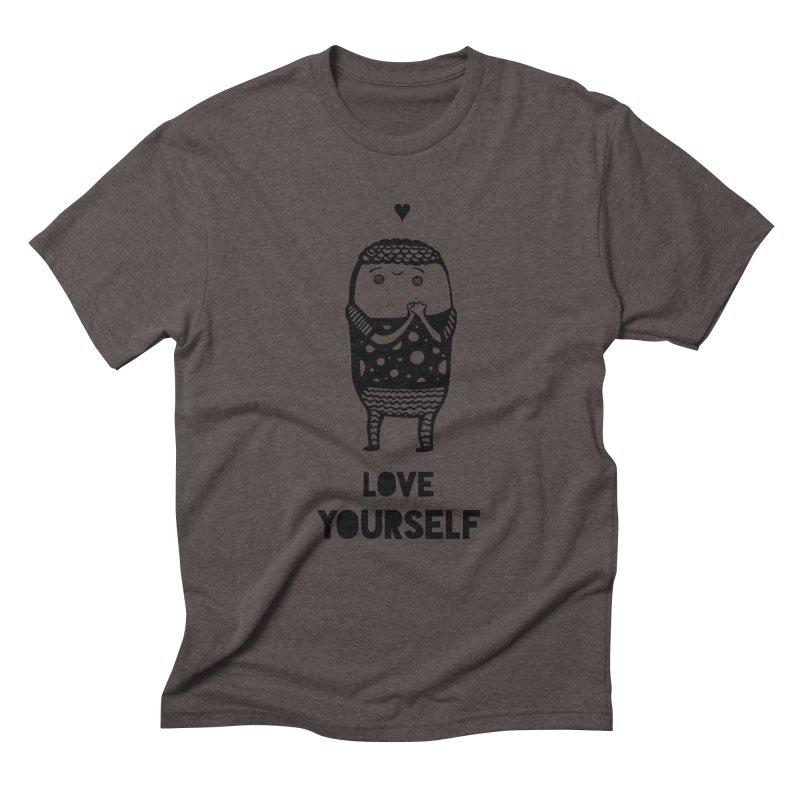 Love Yourself Men's Triblend T-Shirt by Piratart Illustration