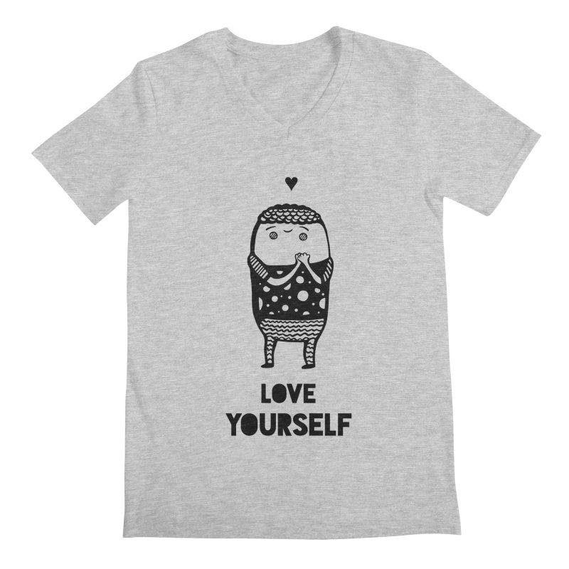 Love Yourself Men's V-Neck by Piratart Illustration