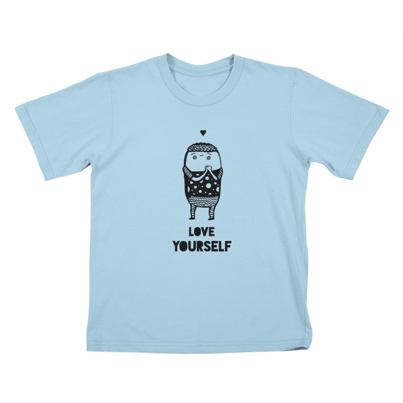 Love Yourself Kids T-Shirt by Piratart Illustration