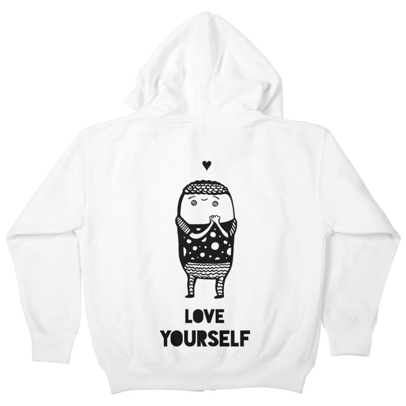 Love Yourself Kids Zip-Up Hoody by Piratart Illustration