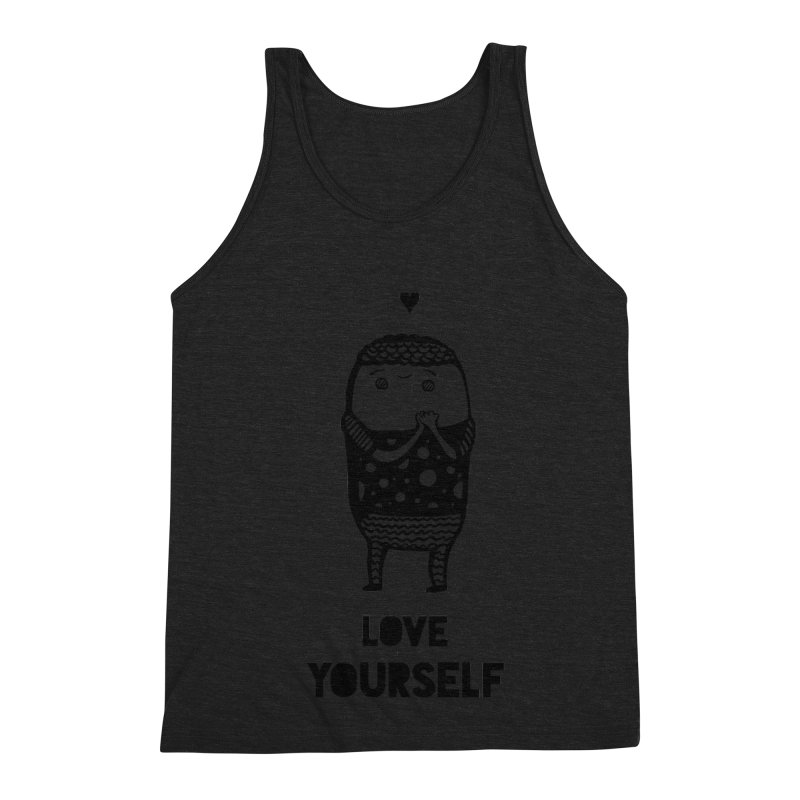 Love Yourself Men's Triblend Tank by Piratart Illustration