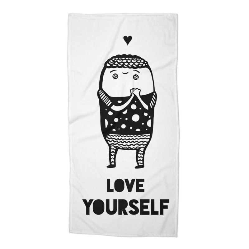 Love Yourself Accessories Beach Towel by Piratart Illustration