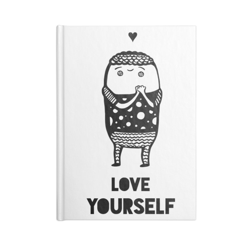 Love Yourself Accessories Notebook by Piratart Illustration
