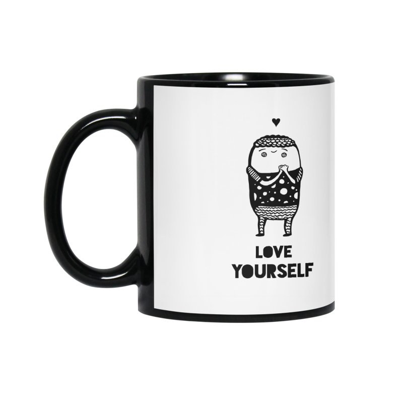 Love Yourself Accessories Mug by Piratart Illustration