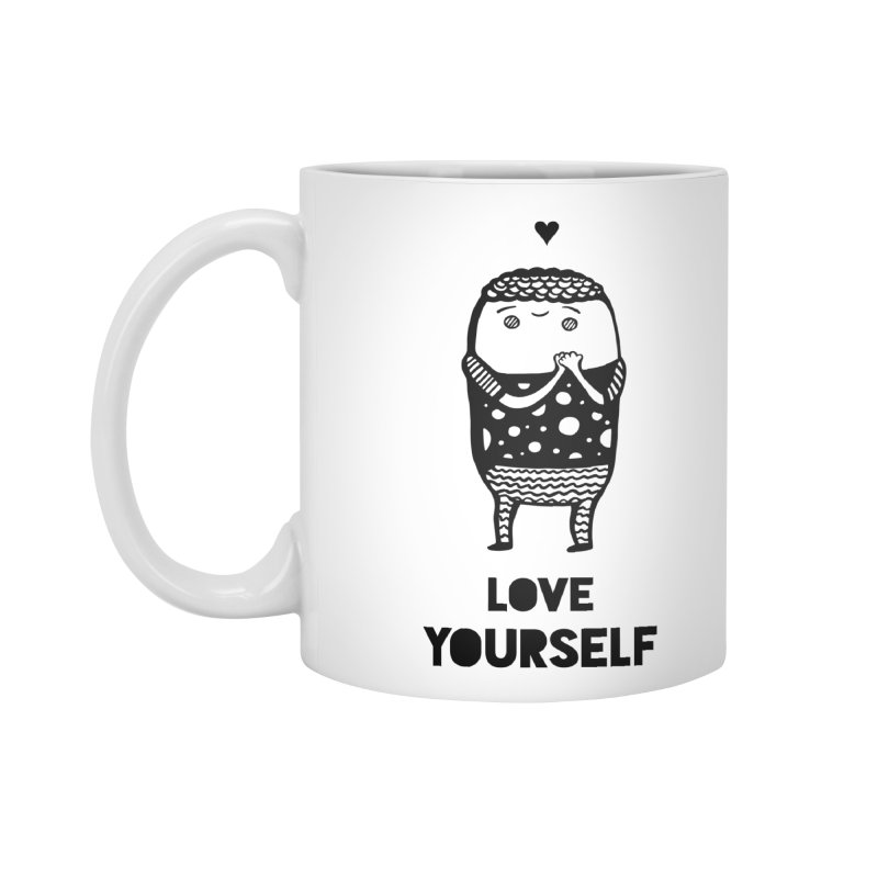 Love Yourself Accessories Standard Mug by Piratart Illustration