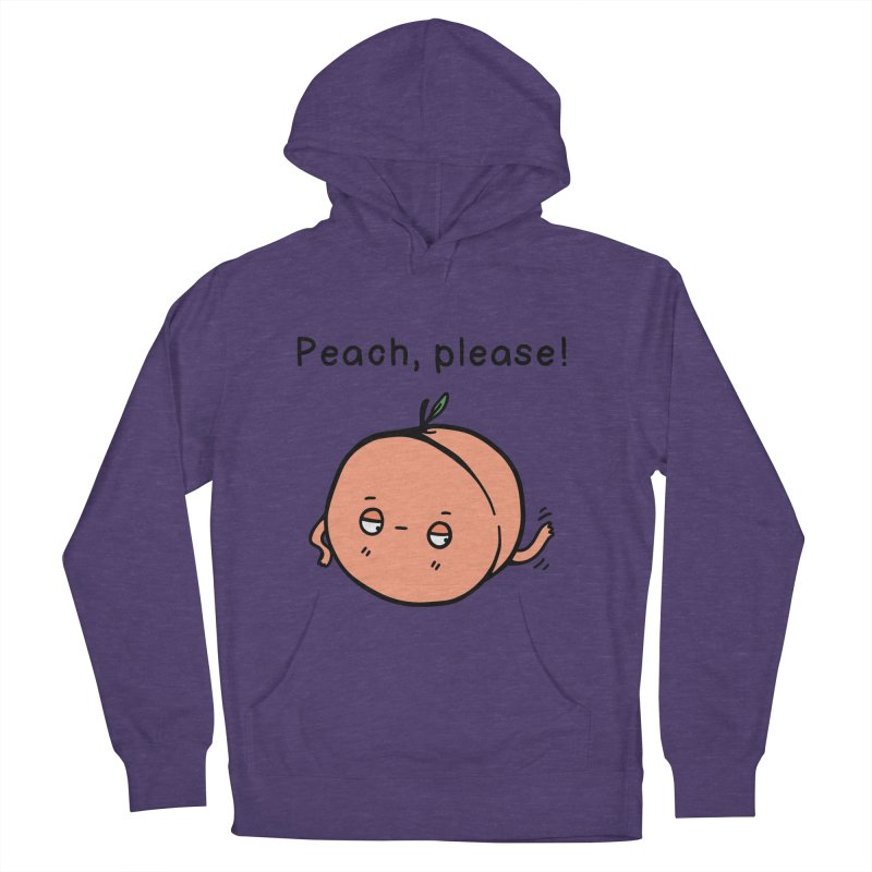 Peach, Please! Men's French Terry Pullover Hoody by Piratart Illustration