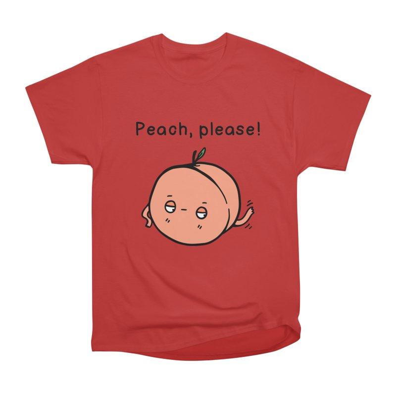 Peach, Please! Women's Heavyweight Unisex T-Shirt by Piratart Illustration
