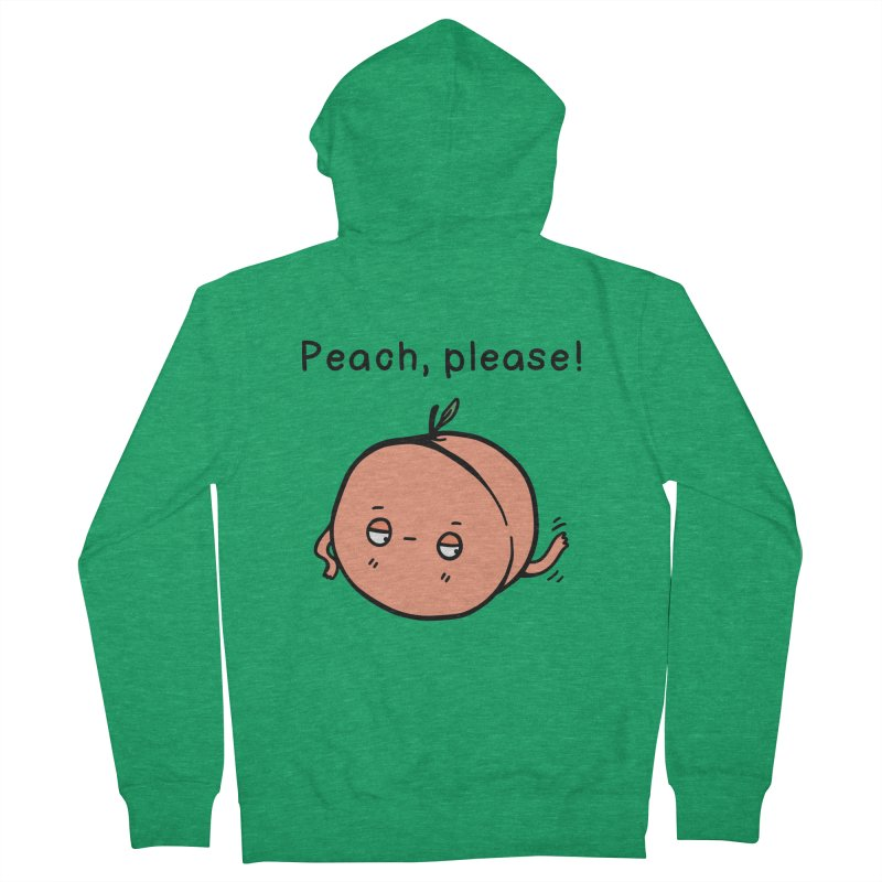 Peach, Please! Women's Zip-Up Hoody by Piratart Illustration