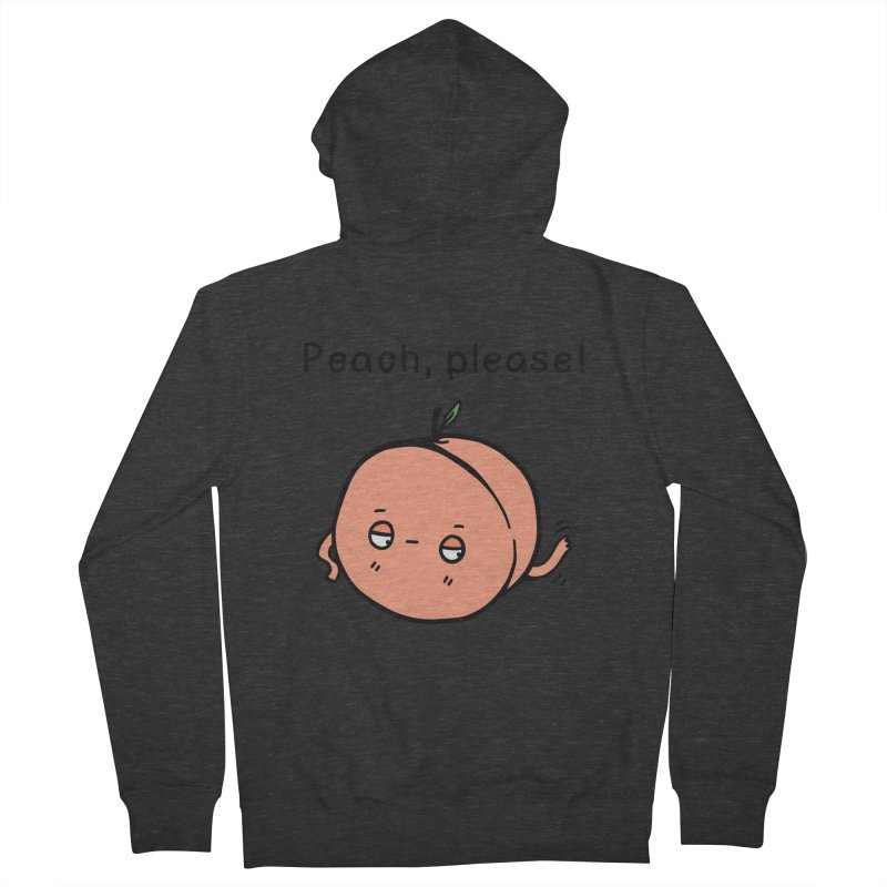 Peach, Please! Women's French Terry Zip-Up Hoody by Piratart Illustration