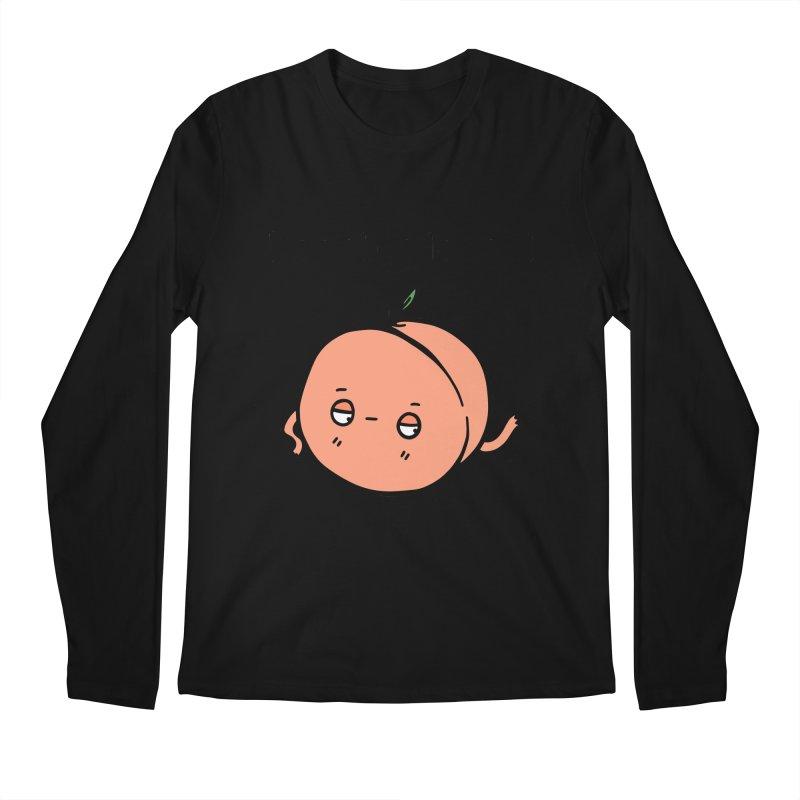 Peach, Please! Men's Regular Longsleeve T-Shirt by Piratart Illustration