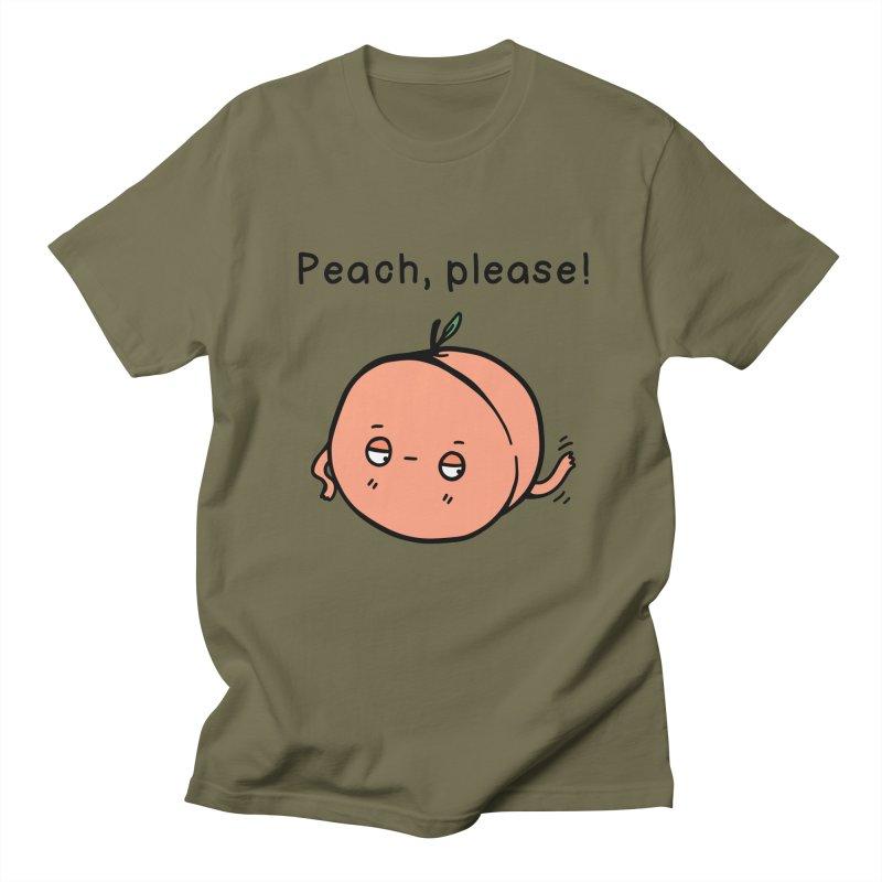 Peach, Please! Men's T-shirt by Piratart Illustration