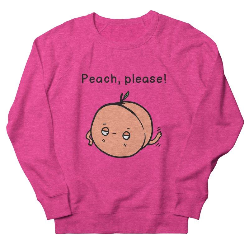 Peach, Please! Men's French Terry Sweatshirt by Piratart Illustration