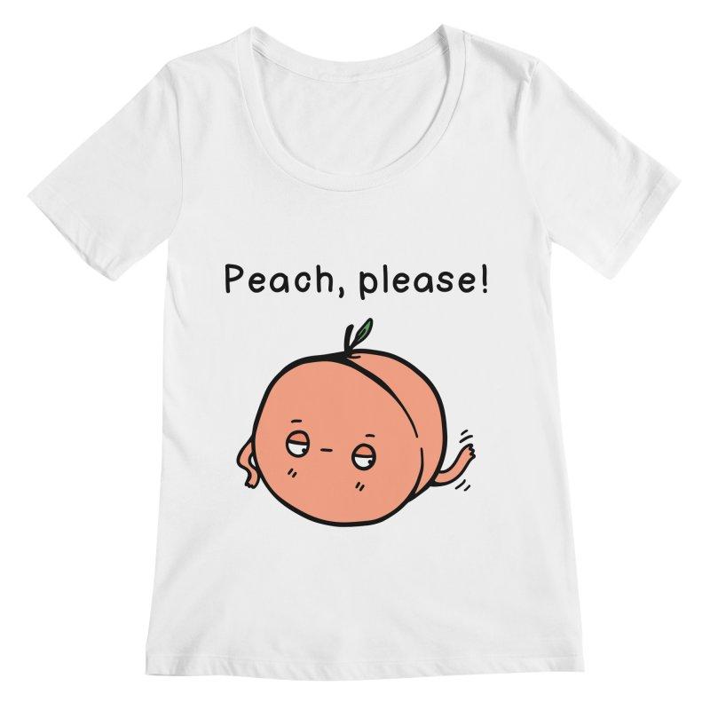Peach, Please! Women's Regular Scoop Neck by Piratart Illustration
