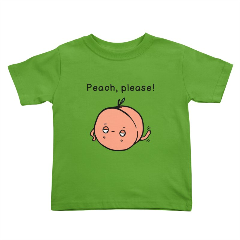 Peach, Please! Kids Toddler T-Shirt by Piratart Illustration