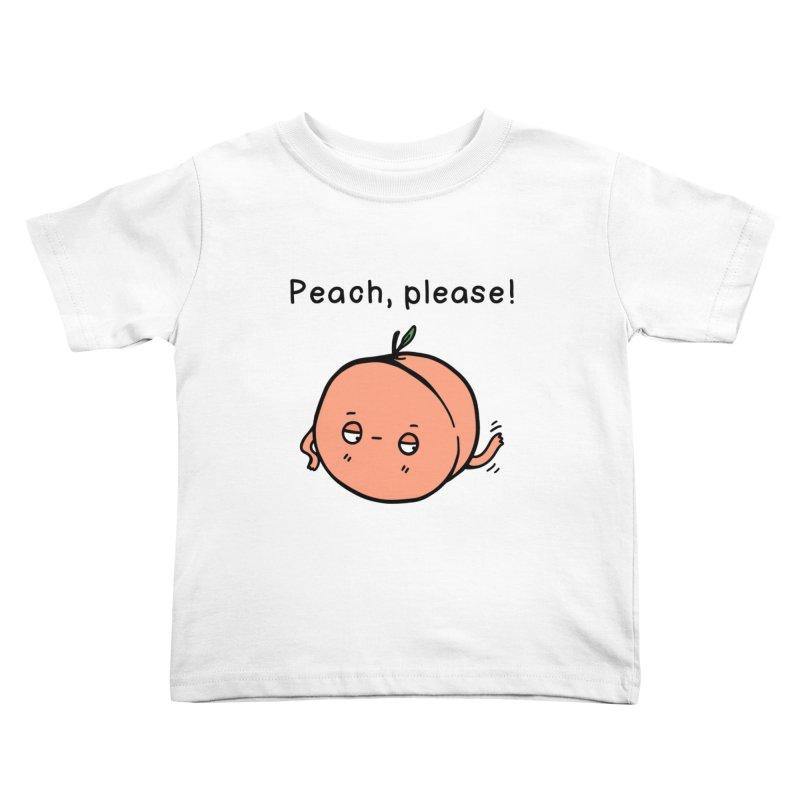 Peach, Please! Kids Toddler T-Shirt by Piratart Illustration