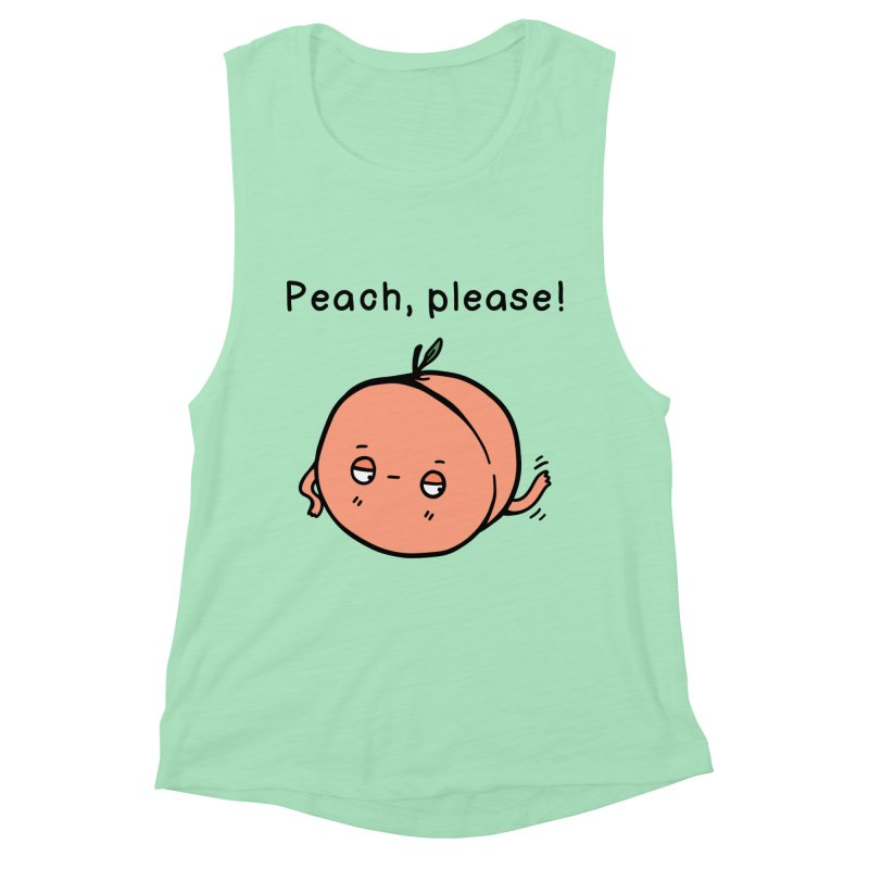 Peach, Please! Women's Tank by Piratart Illustration