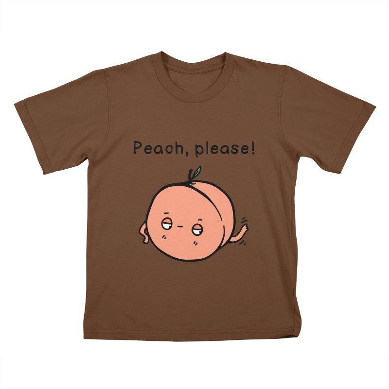 Peach, Please! Kids T-Shirt by Piratart Illustration