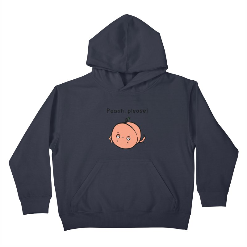 Peach, Please! Kids Pullover Hoody by Piratart Illustration