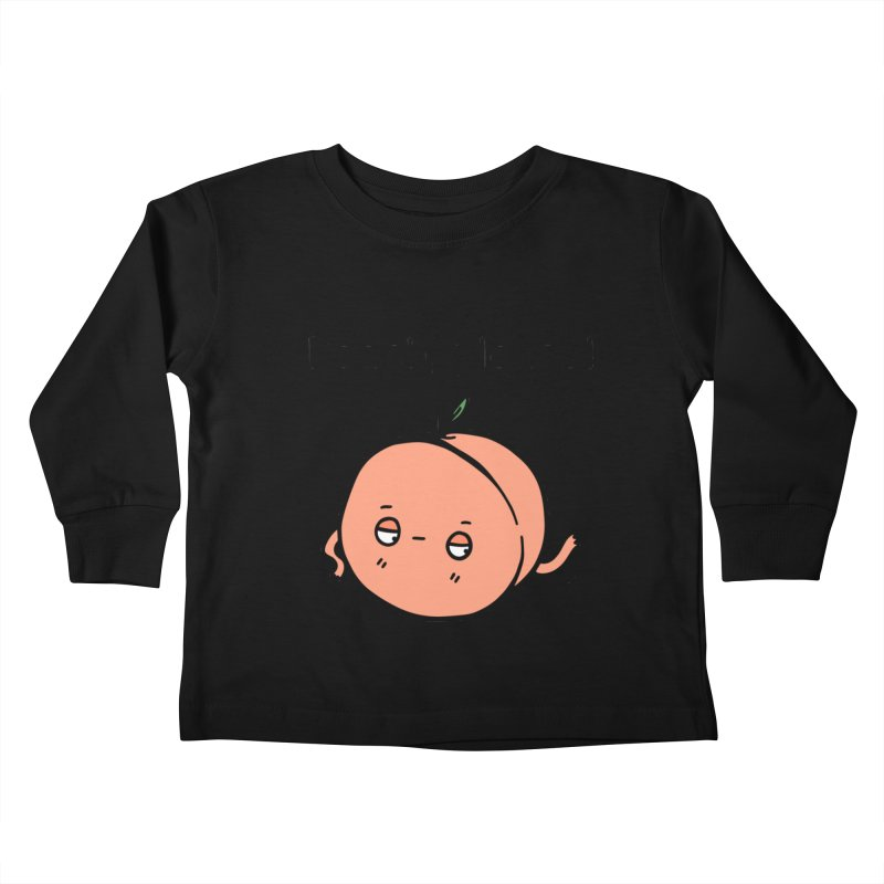 Peach, Please! Kids Toddler Longsleeve T-Shirt by Piratart Illustration