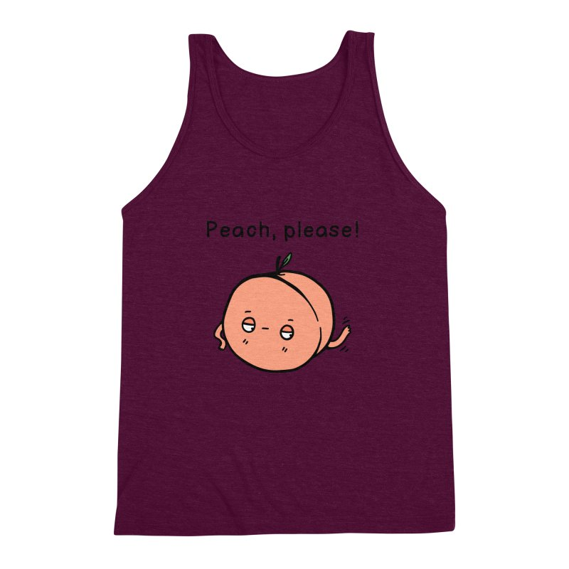 Peach, Please! Men's Triblend Tank by Piratart Illustration