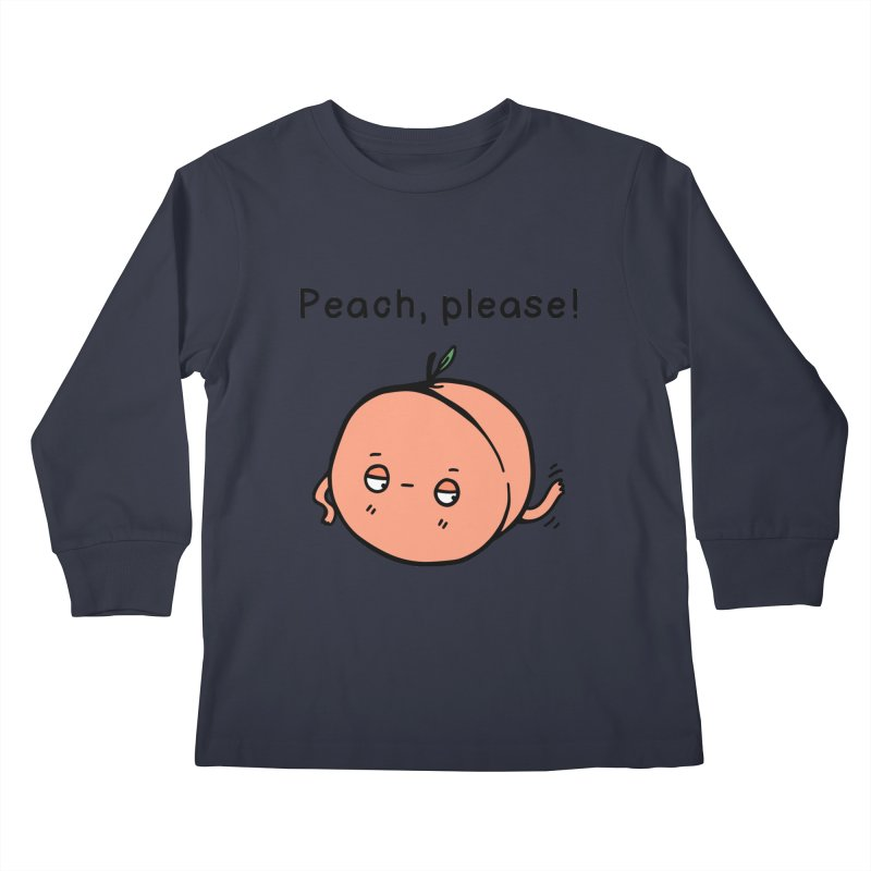 Peach, Please! Kids Longsleeve T-Shirt by Piratart Illustration