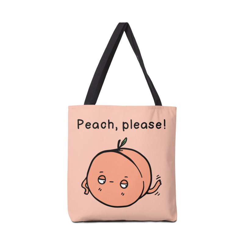 Peach, Please! Accessories Tote Bag Bag by Piratart Illustration