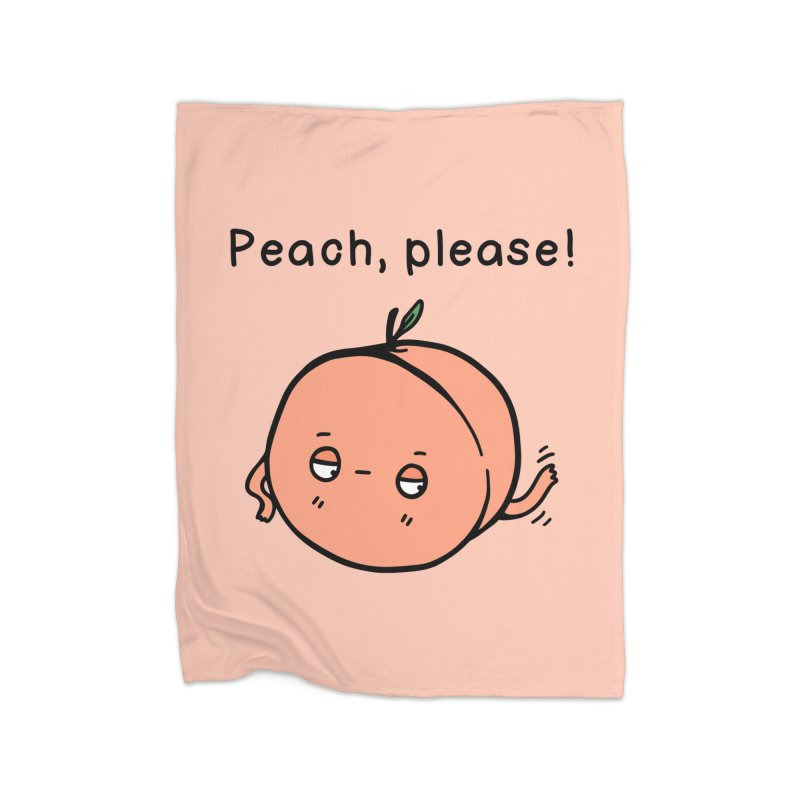 Peach, Please! Home Blanket by Piratart Illustration
