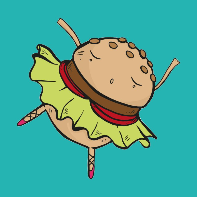 Dancing Burger by Piratart Illustration