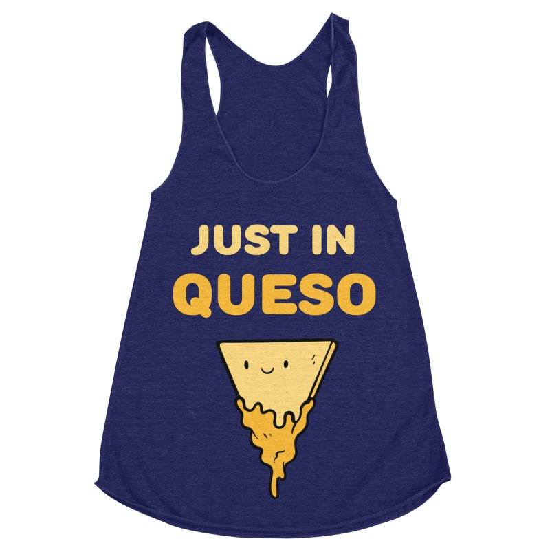 Just in Queso Women's Racerback Triblend Tank by Piratart Illustration