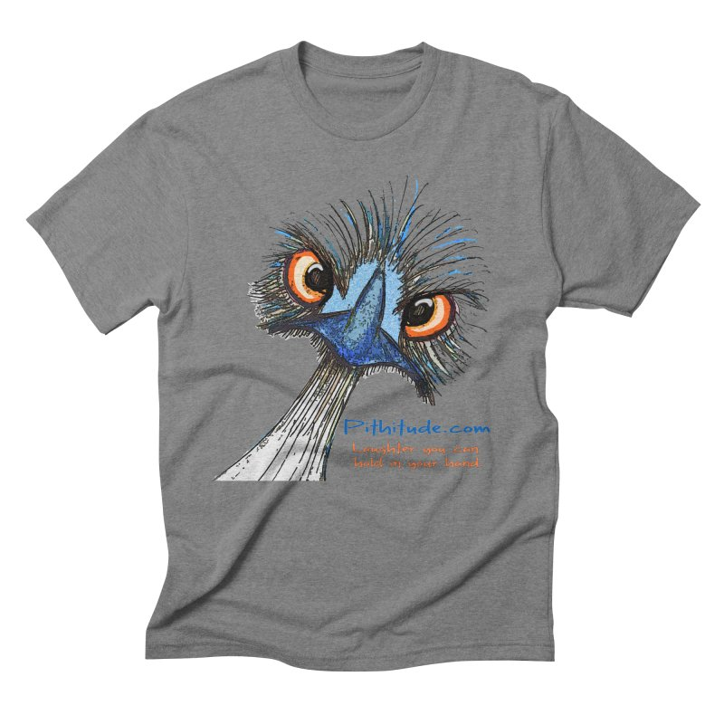 Pithitude Emu Men's Triblend T-shirt by Pithitude on Threadless