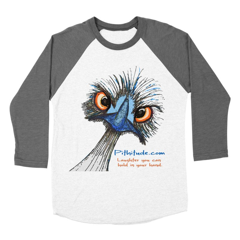 Pithitude Emu Men's Baseball Triblend T-Shirt by Pithitude on Threadless
