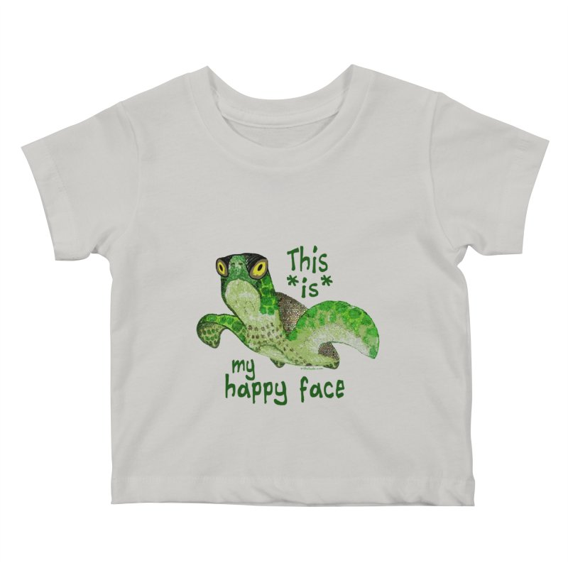 Happy Face Sea Turtle Kids Baby T-Shirt by Pithitude on Threadless