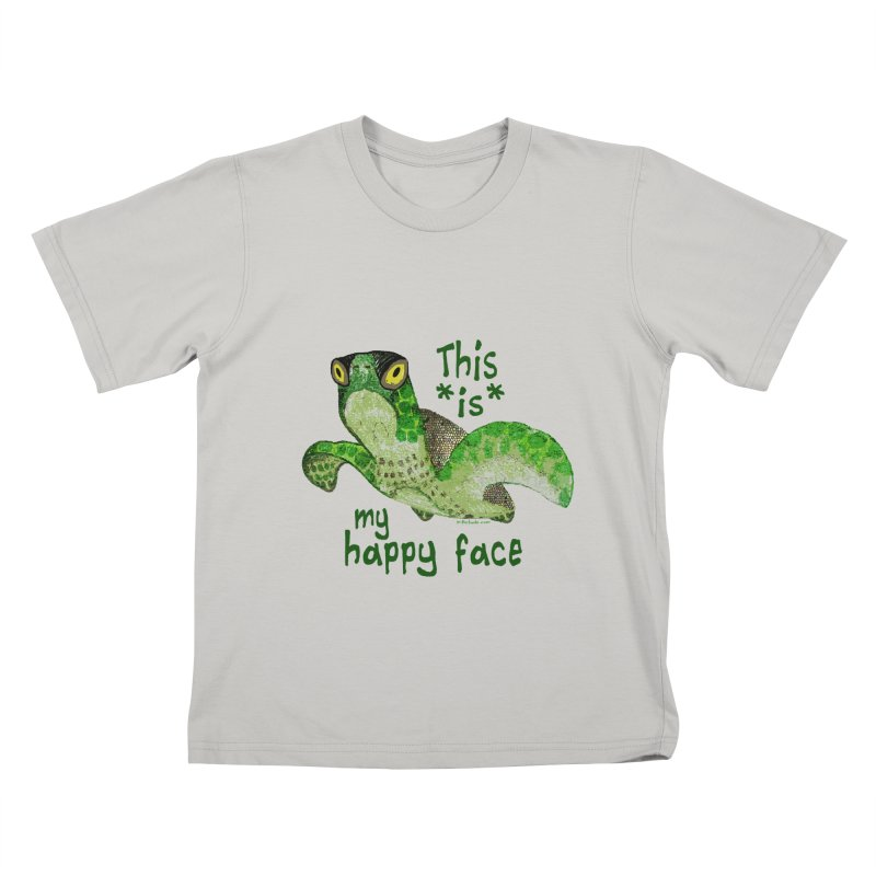Happy Face Sea Turtle Kids T-shirt by Pithitude on Threadless