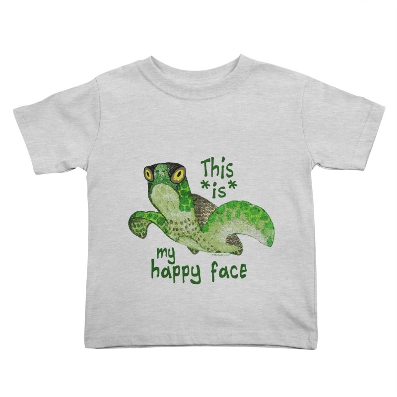 Happy Face Sea Turtle Kids Toddler T-Shirt by Pithitude on Threadless