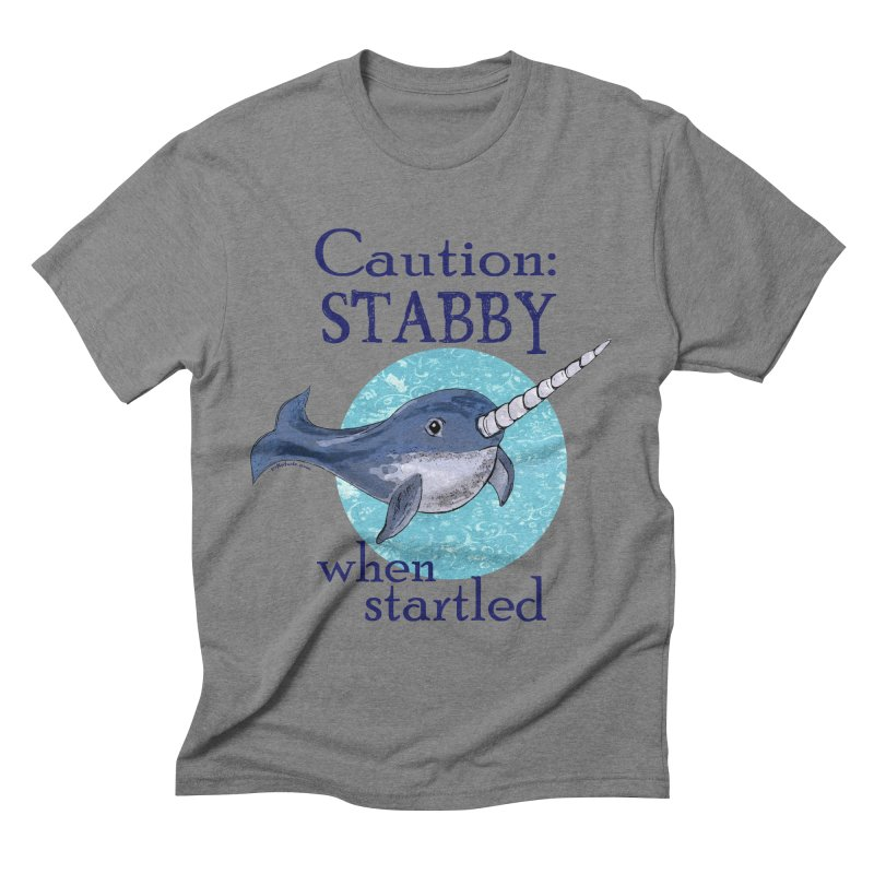 Stabby When Startled Narwhal Men's Triblend T-shirt by Pithitude on Threadless