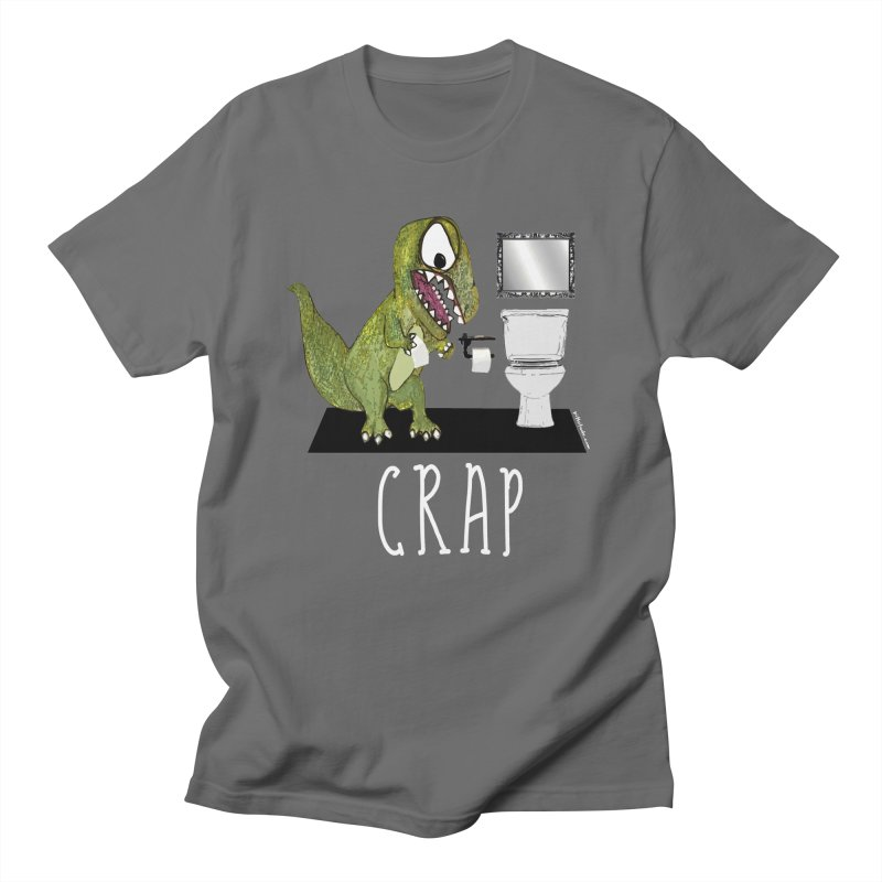 T Rex Crap Bathroom Men's T-shirt by Pithitude on Threadless