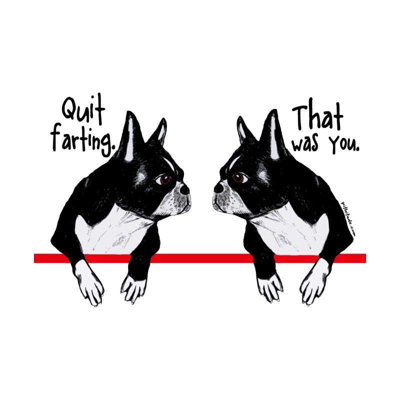 Farting Boston Terriers Women's Triblend T-Shirt by Pithitude on Threadless