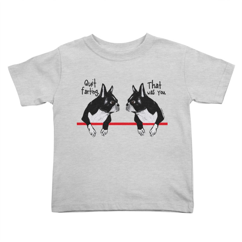 Farting Boston Terriers Kids Toddler T-Shirt by Pithitude on Threadless