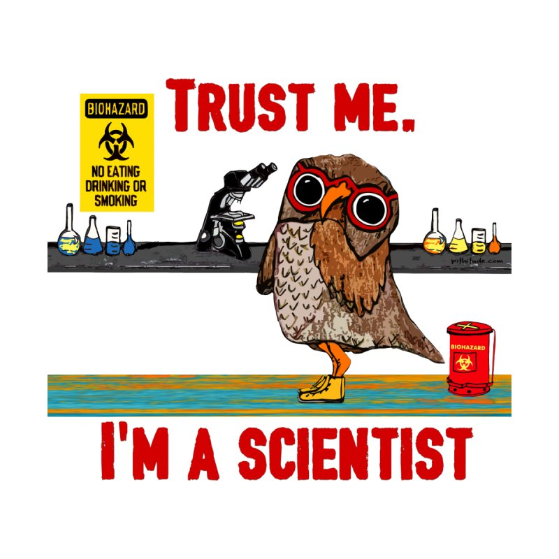 Trust Me I'm a Scientist Owl Men's T-shirt by Pithitude on Threadless
