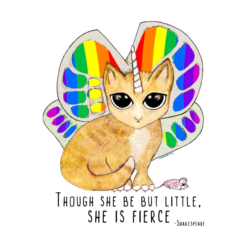 Rainbow Butterfly Unicorn Kitty by Pithitude Women's Triblend T-shirt by Pithitude on Threadless