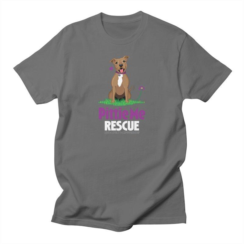 pittie me white transparent Men's T-Shirt by Pittie Me Rescue Shop