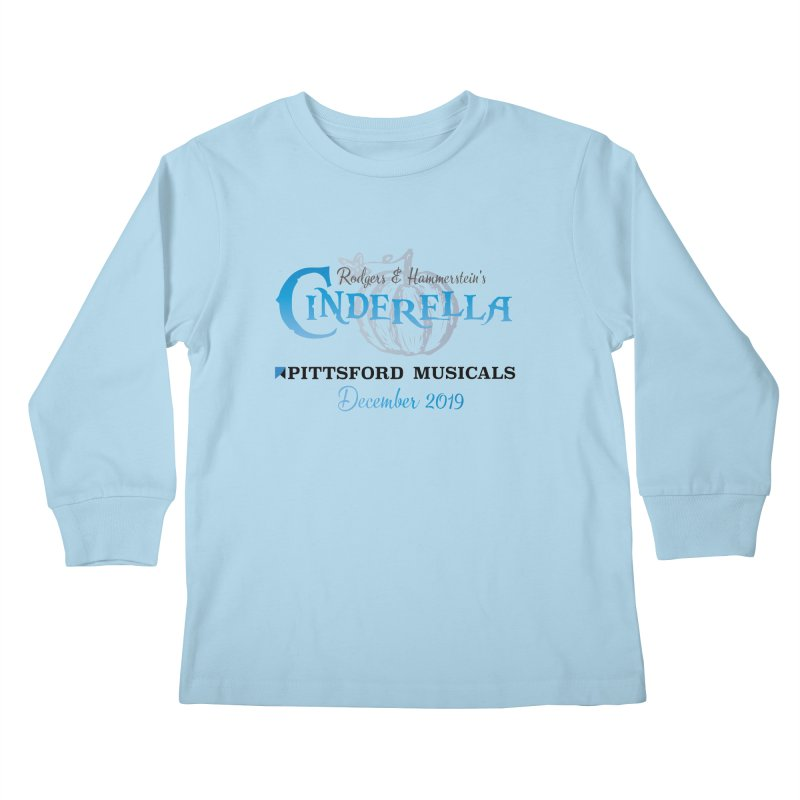 Cinderella 2019 - light colors Kids Longsleeve T-Shirt by Pittsford Musicals