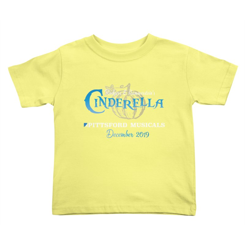Cinderella 2019 - dark backgrounds Kids Toddler T-Shirt by Pittsford Musicals
