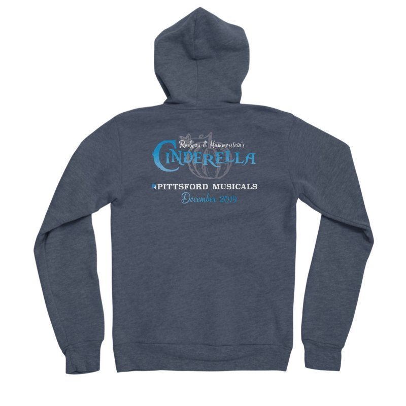 Cinderella 2019 - dark backgrounds Women's Sponge Fleece Zip-Up Hoody by Pittsford Musicals