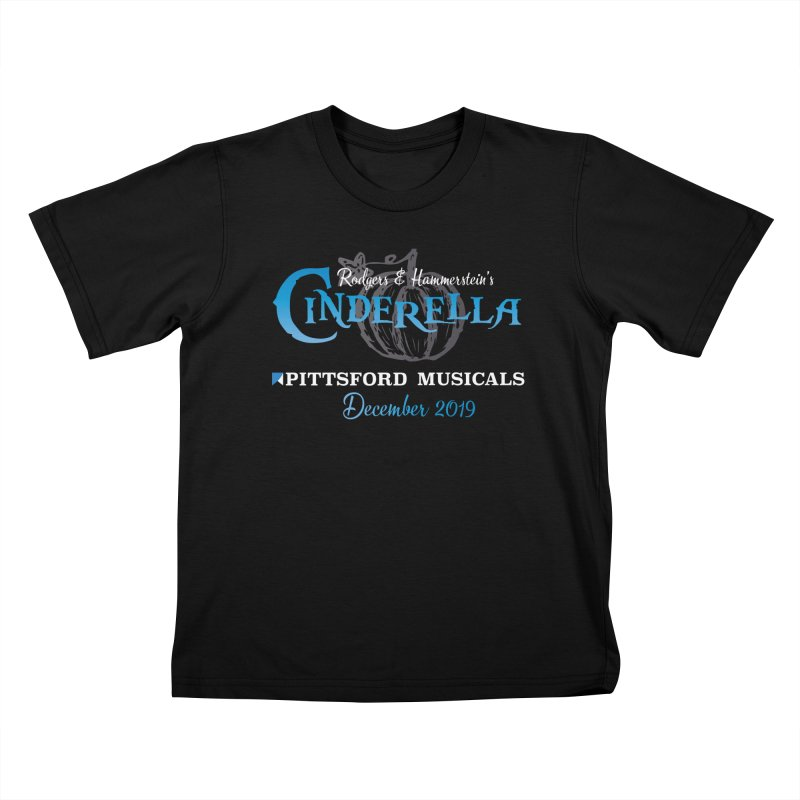 Cinderella 2019 - dark backgrounds Kids T-Shirt by Pittsford Musicals