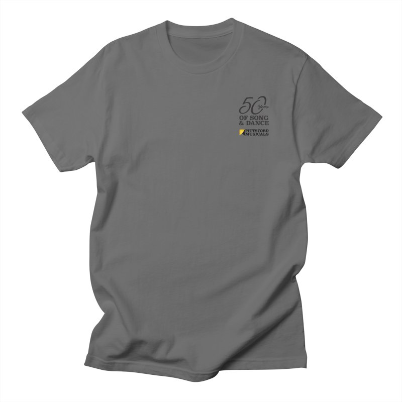 2018 show in Men's Regular T-Shirt Asphalt by Pittsford Musicals